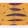 """Monique Lepeuve, Les Mémoires de L'Oiseau Mendelssohn.  """"À Creneaux"""" binding with cover in polycarbonate and spine in PVC,  airbrushed with automotive paint. 18 x 25 cm (7"""" x 10"""")."""