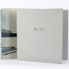 "Samuel Becket, MAC, 1987.  Slipcase with closure made in polycarbonate, lined in velour, and airbrushed  with automotive paint. 20 x 19,5 cm (8"" x 7 3/4"")."